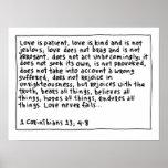 1 Corinthians 13 4-8 Posters