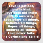 1 Corinthians 13:4-8 Sticker