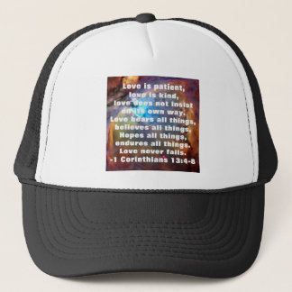 1 Corinthians 13:4-8 Trucker Hat
