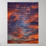 1 Corinthians 13; 4-8a - Poster inspirado