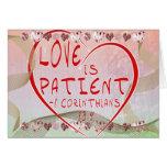 1 Corinthians 13:4 Love is patient Card