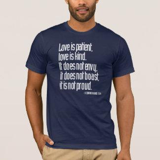 1 Corinthians 13:4 Men's Fitted Crew Neck T-Shirt