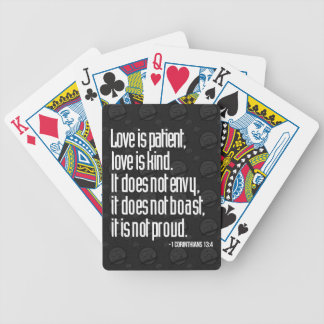 1 Corinthians 13:4 Playing Cards