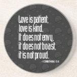 1 Corinthians 13:4 Sandstone Coasters