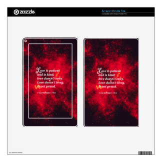 1 Corinthians 13:4 Decals For Kindle Fire