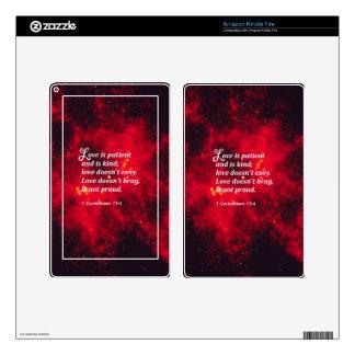 1 Corinthians 13:4 Decals For Kindle Fire