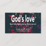 1 Corinthians 13:8 LOVE NEVER FAILS Scripture Business Card