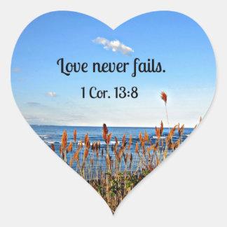 1 Corinthians 13:8 Love never fails. Sticker