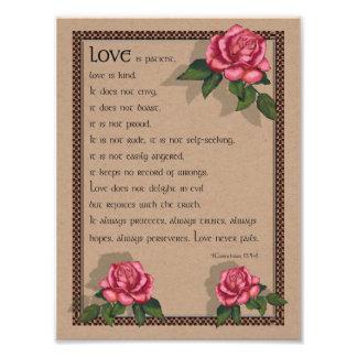1 Corinthians 13: Amor: Biblia: Rosas rosados Fotografía