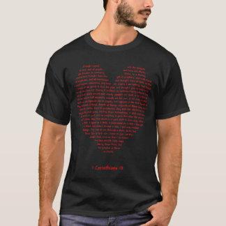 1 Corinthians 13 Heart T-Shirt