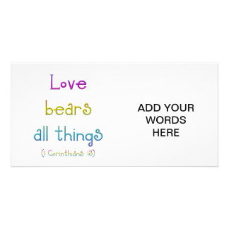 1 Corinthians 13 - Love Bears All Things Card