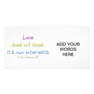1 Corinthians 13 - Love Does Not Seek Own Interest Card
