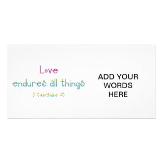 1 Corinthians 13 - Love Endures All Things Card