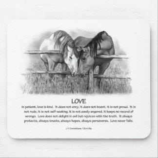 1 Corinthians 13: Love, Horses in Pencil Mouse Pad