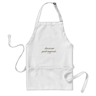 1 Corinthians 13 - Love Is Not Quick Tempered Adult Apron