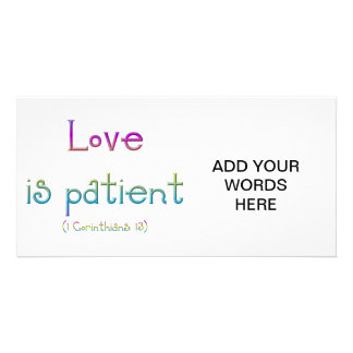 1 Corinthians 13 - Love Is Patient Card
