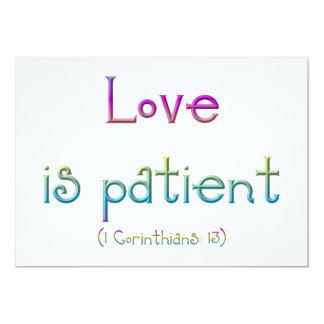 1 Corinthians 13 - Love Is Patient Card