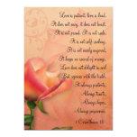 1 Corinthians 13 Love is Patient Mini Prints 5x7 Paper Invitation Card