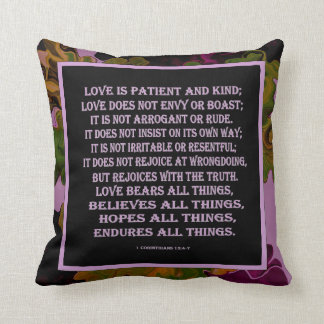 1 Corinthians 13 love is Throw Pillow