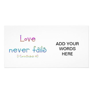 1 Corinthians 13 - Love Never Fails Card