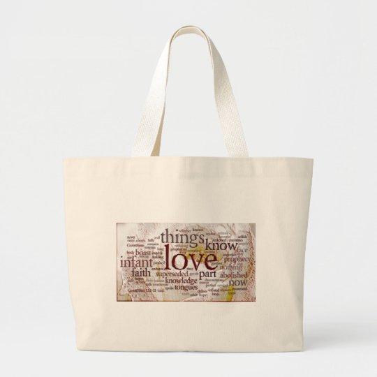 1 Corinthians 13 Rose (v1) Large Tote Bag