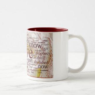 1 Corinthians 13 Rose (v1) Two-Tone Coffee Mug