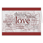 1 Corinthians 13 Rose (v2) Card