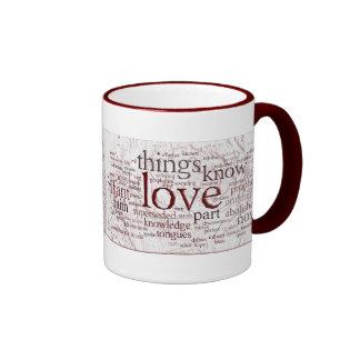 1 Corinthians 13 Rose (v2) Ringer Mug