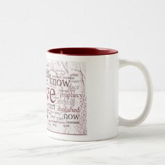 1 Corinthians 13 Rose (v2) Two-Tone Coffee Mug