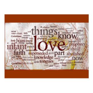 1 Corinthians 13 subiós (v1) Tarjetas Postales