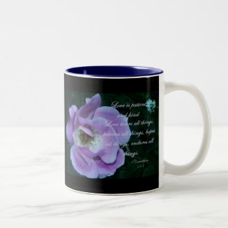 1 Corinthians 13 Two-Tone Coffee Mug
