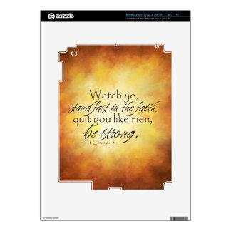 1 Corinthians 16:13 iPad 3 Decal