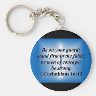 1 Corinthians 16:13 Keychains