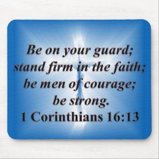 1 Corinthians 16:13 Mousepad