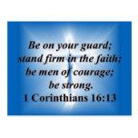 1 Corinthians 16:13 Post Cards