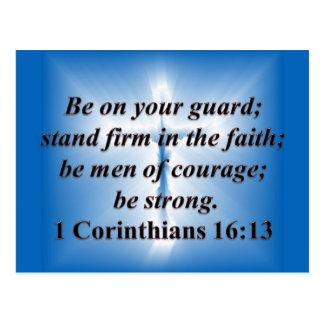1 Corinthians 16:13 Postcard