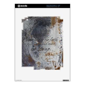 1 Corinthians 16:13 Skins For iPad 2