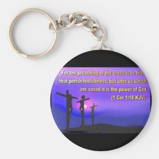 1 Corinthians 1:18 Key Chains