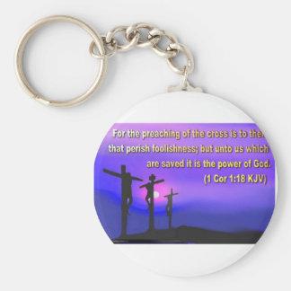 1 Corinthians 1:18 Keychain