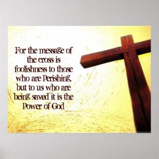 1 Corinthians 1:18 Poster