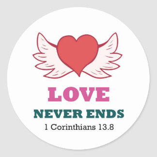 1 Corinthians 1 Love never ends Sticker