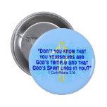 1 Corinthians 3 16 Pinback Buttons