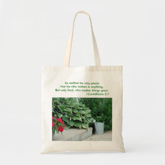 1 Corinthians 3:7, Watering Can & Plants, So ne... Bags