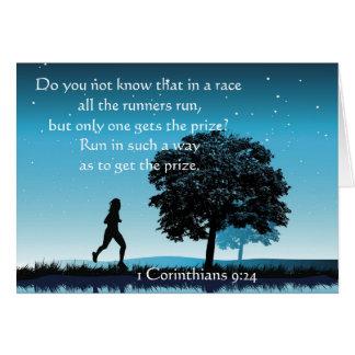 1 Corinthians 9:24 Greeting Card