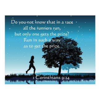 1 Corinthians 9:24 Postcard