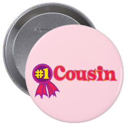 Round Button with #1 One Cousin Award design
