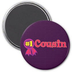Round Magnet with #1 One Cousin Award design