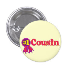 #1 One Cousin Award Round Button