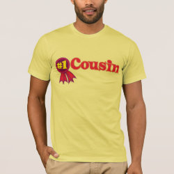 Men's Basic American Apparel T-Shirt with #1 One Cousin Award design