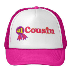 Trucker Hat with #1 One Cousin Award design